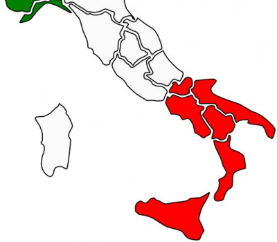 Italy Tri Colored Map