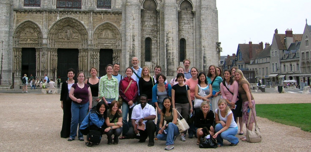 French Studies students at Chartres Cathedral