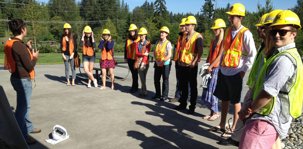 French Students Visit Brightwater Sewage Treatment Plant