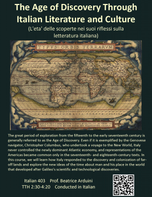 The Age of Discovery Through Italian Literature and Culture