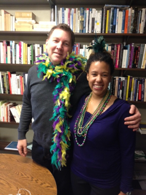 Maya Smith and Richard Watts, FIS Faculty, Celebrate Mardi Gras!