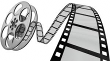 black and white cinema reel