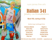 Italian 341 - poetry in translation event poster