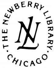 "Newberry Library of Chicago logo, an ""N"" intersected by an ""L"""
