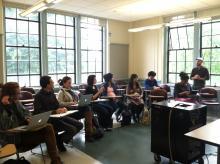 Nate Sander visits French 499 - Qualitative Research Methods