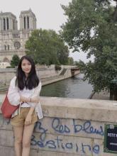 Sandrine Zhao on a bridge in Paris