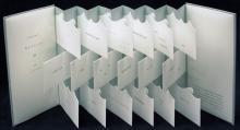 Many-paneled fold out document