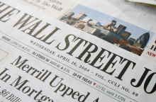 Front cover of the Wall Street Journal