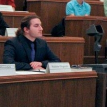Matthew Fitzgerald in ASUW Senate forum