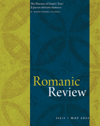 Cover Image Romanic Review 112:1