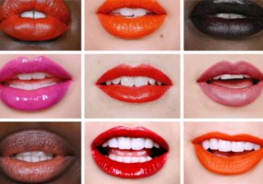 collage of mouths