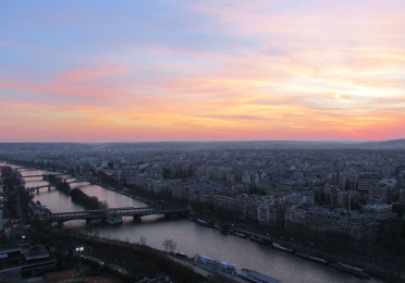 Setting Sun from the Eiffel Tower