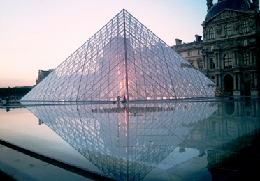Glass pyramid at the Louvre, Paris, France