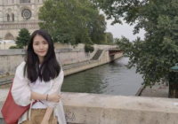 Sandrine Zhao on a bridge in Paris