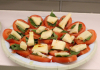 caprese salad (tomato, mozzarella and basil stacked)