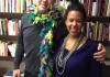 Maya Smith and Richard Watts, FIS Faculty, Celebrate Mardi Gras!