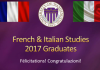 Purple slide entited French & italian studies graduates