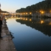Josh Gailey plays the trumpet along the Tiber in Rome