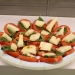 caprese salad (tomato, mozzarella and basil stacked)