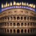 Colosseum with candles on it